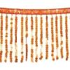 Sequin Fringe 6mm Trim Hologram Orange 15cm Long